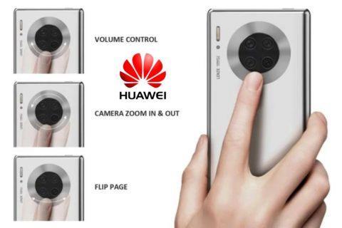 ovládání na zádech Huawei