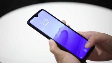 Redmi Note 8 Pro ukázka otisk prstu LCD