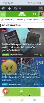 Samsung Galaxy Fold externí – prohlížeč