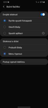 Samsung One UI 2 nastaveni