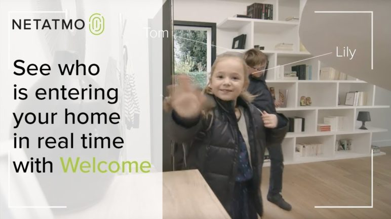 See who is entering your home in real time with the Welcome indoor security camera