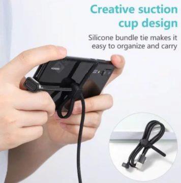 USB C kabel se zahnutím