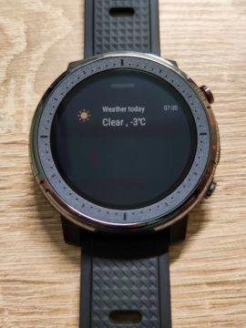 recenze Xiaomi Amazfit Stratos 3 počasí