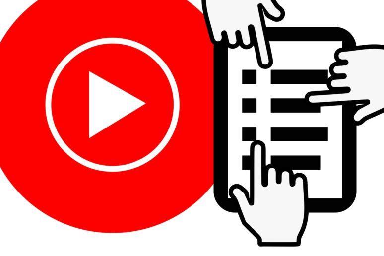 YouTube Music sdílená editace playlistů