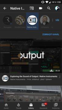 YouTube odběry filtrování videí podle kanálů náhled 2