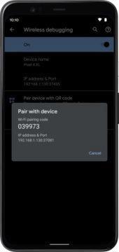 Android 11 bezdratove ladeni
