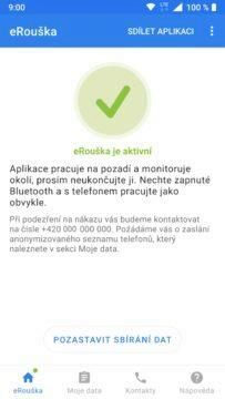aplikace eRouška screen 2