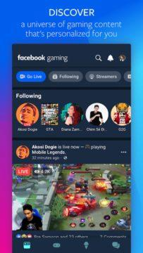 aplikace Facebook Gaming 1