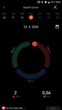 Aplikace Mobvoi tracking