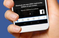 Facebook spodní lišta testování
