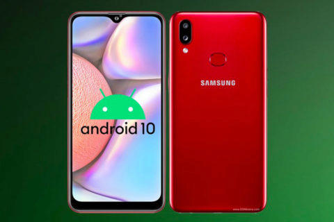 galaxy a10s android 10