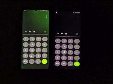 Galaxy S20 Ultra zbarvení displeje ukazka 2