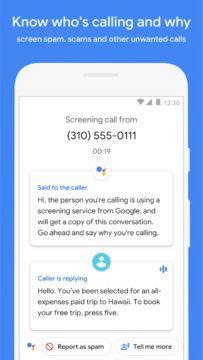 Google Telefon screen 3