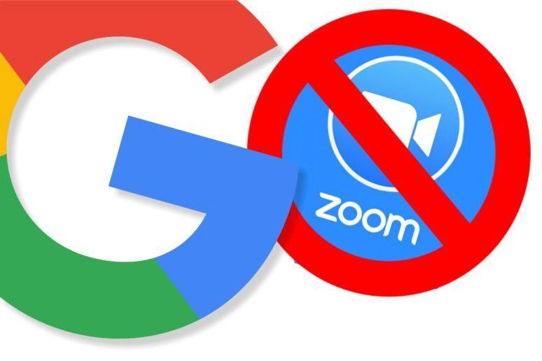 Google Zoom zákaz