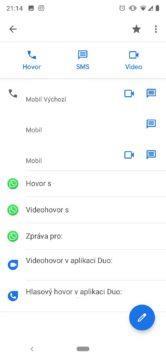 google duo aplikace telefon