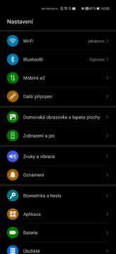 Huawei p40 pro uživatelské prostředí
