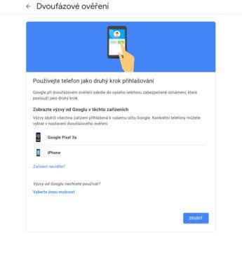 jak zapnout dvoufaktorové ověření v google účtu