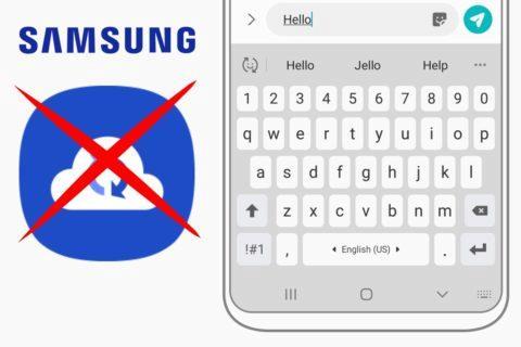 klávesnice Samsung Cloud konec zálohování