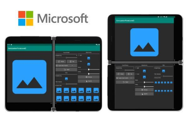 Microsoft Surface Duo vzhled aplikací