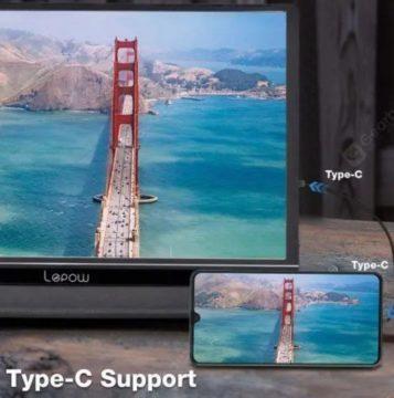 Přenosný displej s USB-C pro telefon