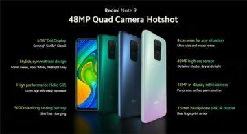 Redmi Note 9 fotoaparaty