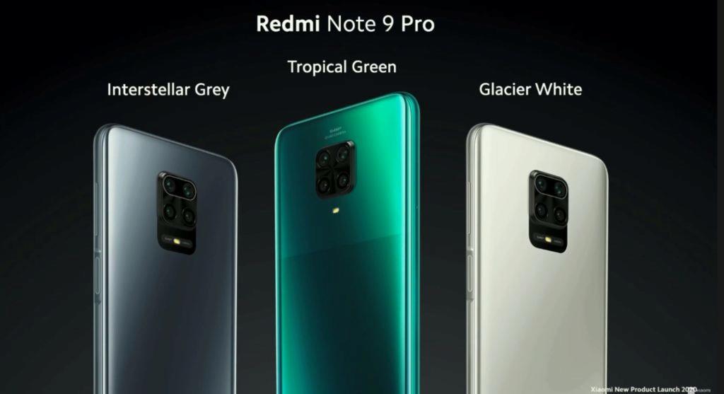Redmi Note 9 Pro barvy