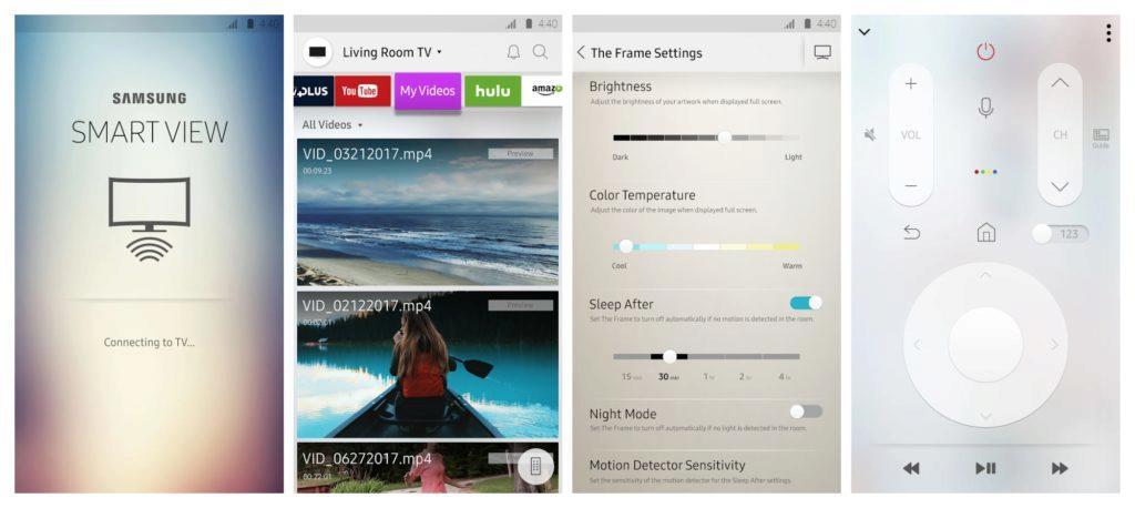 Samsung Smart View aplikace screens