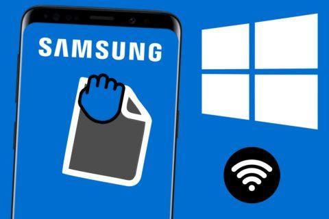 Samsung Windows přenos souborů