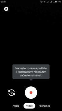 Video zprávy Google Duo