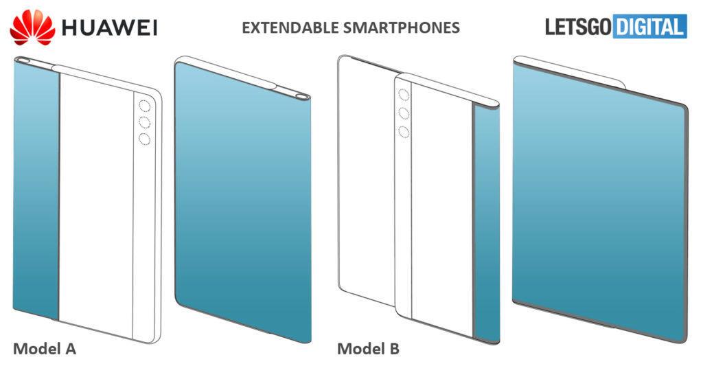 vysouvací displej Huawei A B varianty