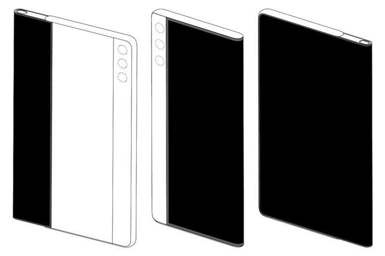 vysouvací displej Huawei patenty