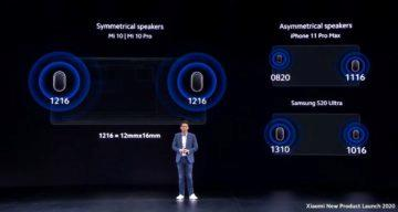 Xiaomi Mi 10 Pro audio stereo reproduktory