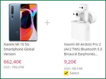 Xiaomi Mi 10 sleva Mi AirDots Pro 2