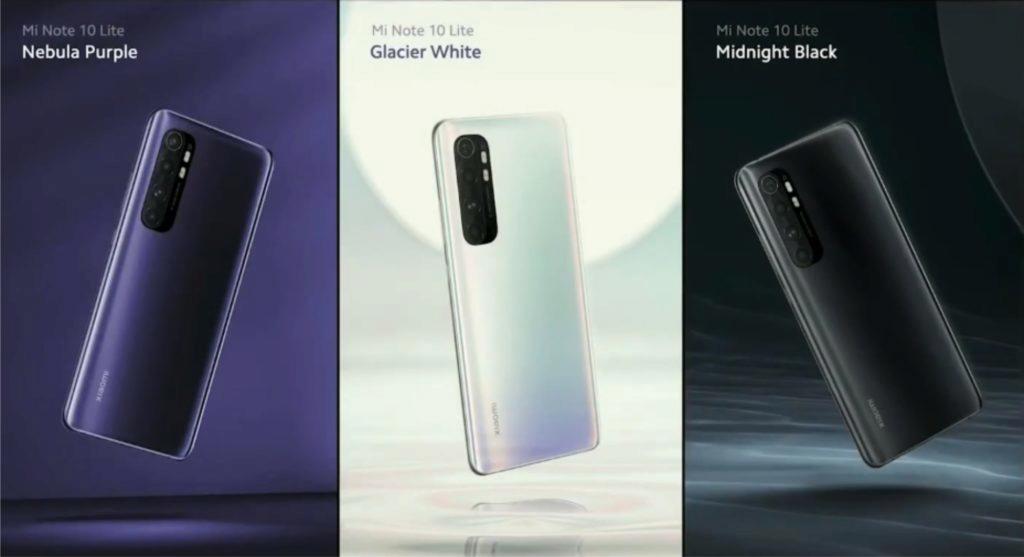 Xiaomi MI Note 10 Lite barvy