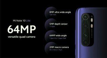 Xiaomi MI Note 10 Lite fotoaparaty