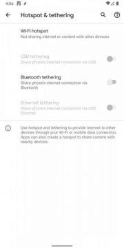 Android 11 Developer Preview 4 Hotspot a Tethering stare