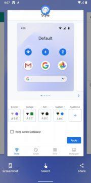 Android 11 Developer Preview 4 vyber obrazku a textu z nedavnych aplikaci tlacitko