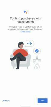 Asistent Google hlasové potvrzování plateb nastavení 1