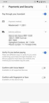 Asistent Google hlasové potvrzování plateb nastavení 4