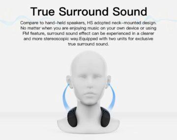 Bluedio Bluetooth reproduktor na krk 2