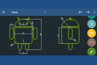 CAD na Androidu GnaCAD