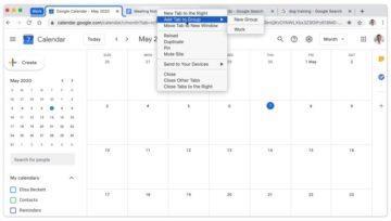 Chrome seskupování karet pojmenovávání skupin a výběr barev
