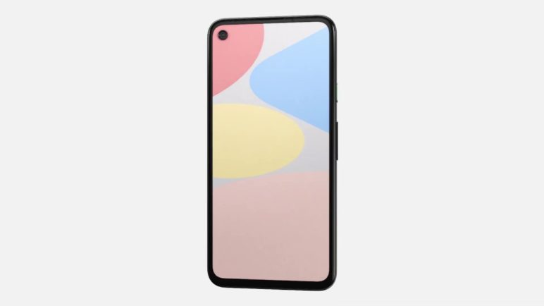 Complete look of Google Pixel 4a Just Black (based on leaked CAD drawings)