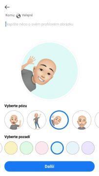Facebook avatar nastaveni profilovky 1