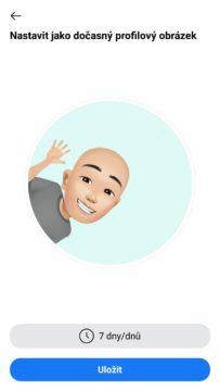 Facebook avatar nastaveni profilovky 2