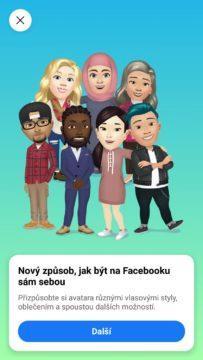 Facebook avatar vytvoreni start