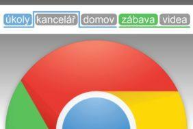 Google Chrome nové seskupování karet