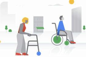 Google Mapy bezbariérový přístup