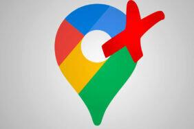 google mapy chyba