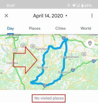 google mapy obsahují chybu